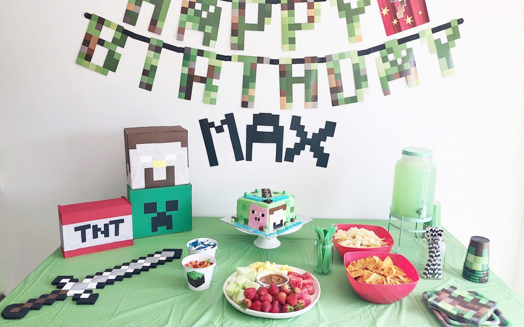 Minecraft Party: Maxton Turns Seven